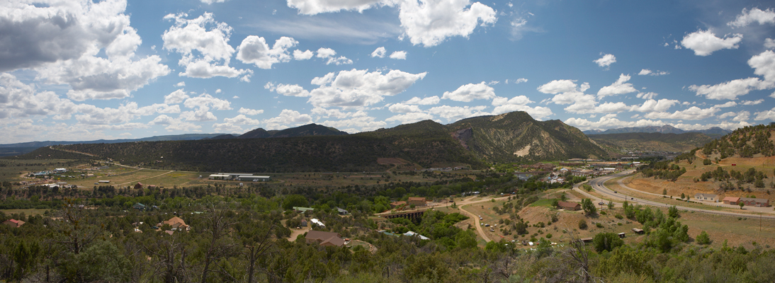 Entering Durango from the South: 3-image Panorama