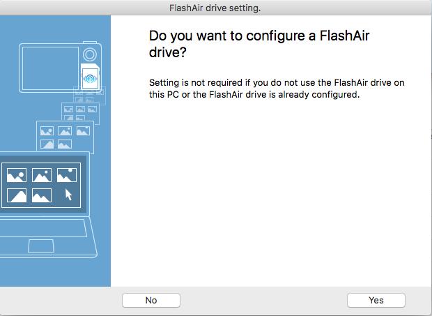 FlashAir Drive Settings 1
