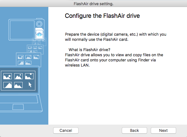 Configure FlashAir Drive
