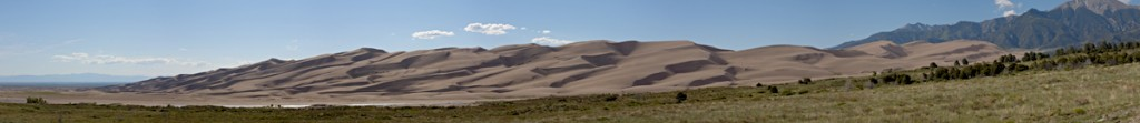 Great Sand Dunes National Park and Preserve looking west and north.