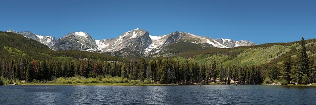 Sprague Lake, Rocky Mountain Park - 22 image panorama