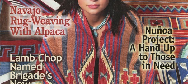 On the Cover of Alpacas Magazine